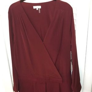 NWT 1. State Red Wine Romper w/ Long Sleeve SZ 12
